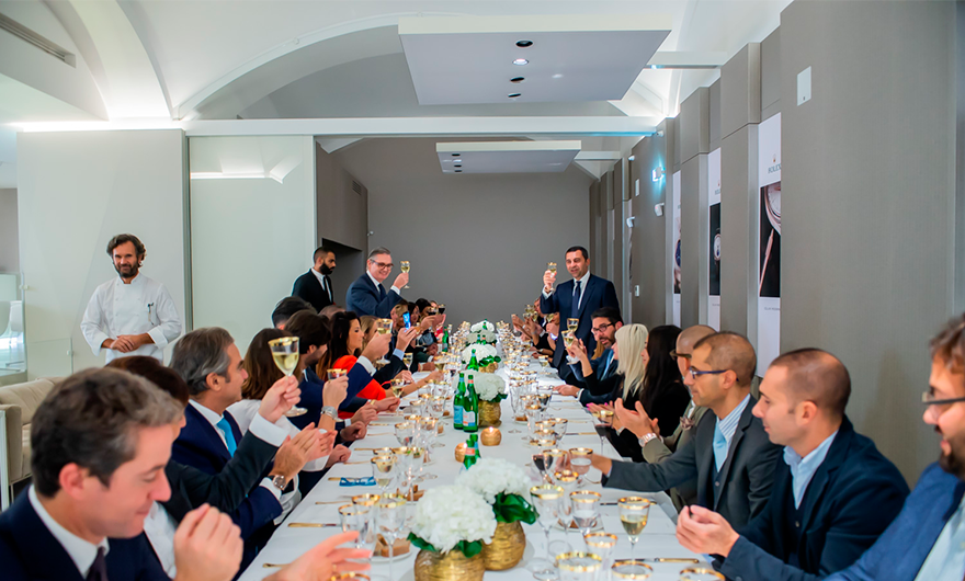 Rocca and Rolex: together for an exclusive dinner by Chef Cracco