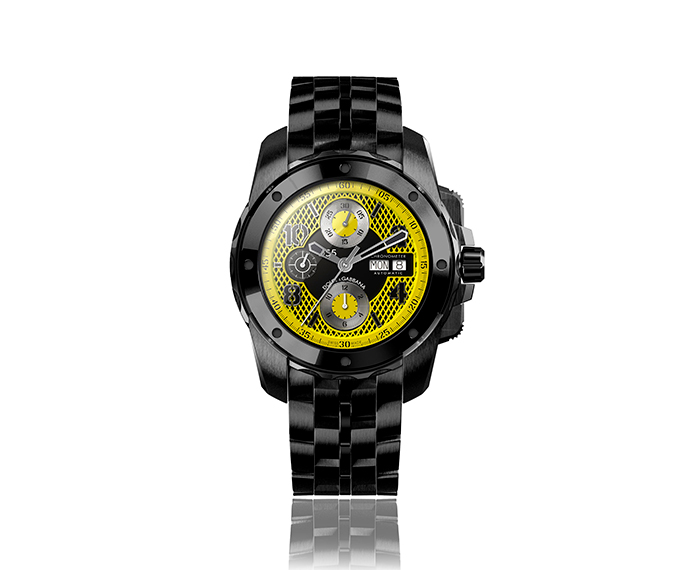 DOLCE&GABBANA - DG5 Black and yellow 44 mm