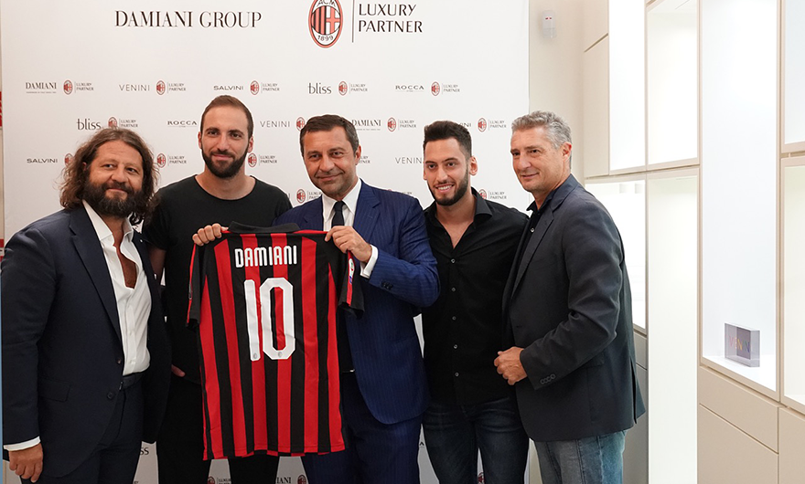 The Damiani Group becomes AC Milan's Luxury Partner