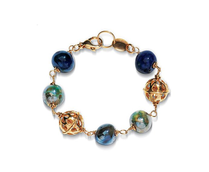 Alfieri & St. John - Bracelet Magika Terra in yellow silver and raku ceramic