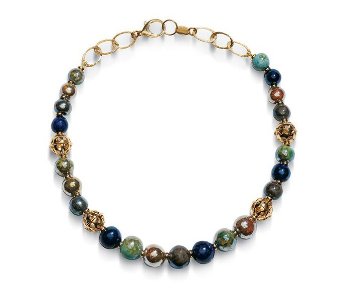 Alfieri & St. John - Necklace Magika Terra in yellow silver and raku ceramic