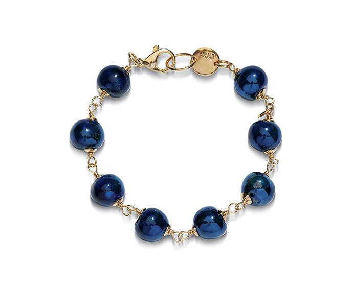 ALFIERI & ST. JOHN - Bracelet Magika Acqua in yellow silver and raku ceramic