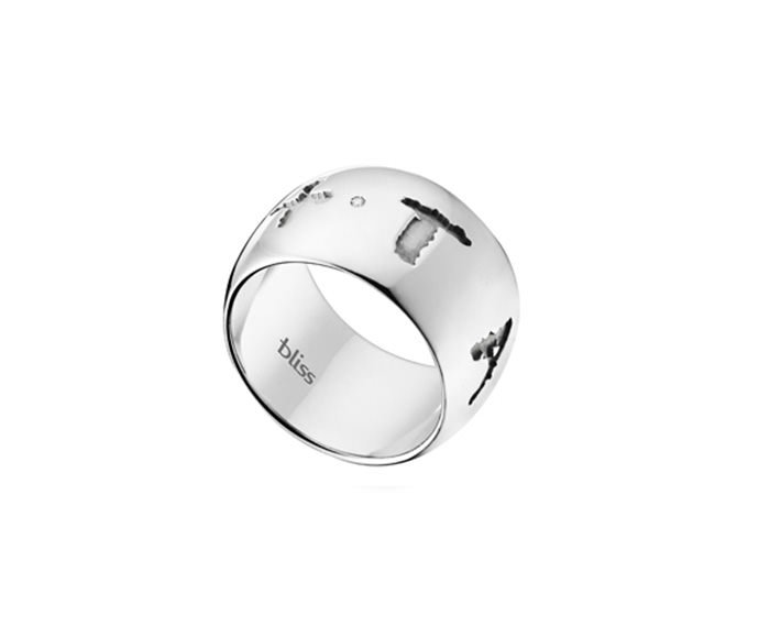 Bliss - Silver and natural diamond ring