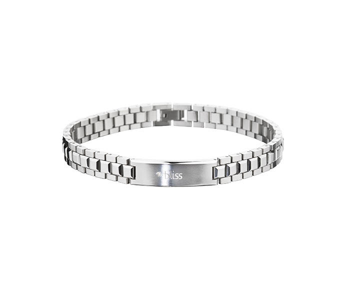 BLISS - Steel and natural diamond bracelet