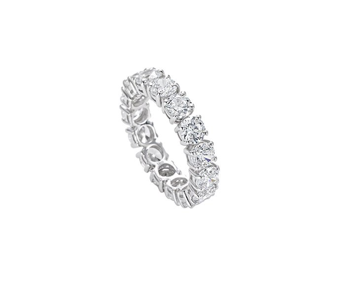 Bliss - Silver and cz stones solitaire ring