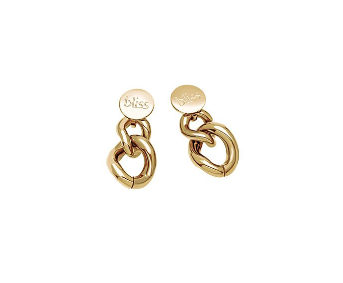 Bliss - Golden metal earrings