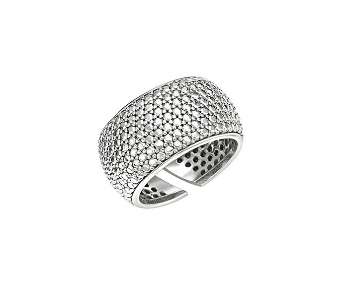 BLISS - Rhodium plated silver ring