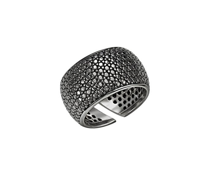 BLISS - Black rhodium plated silver ring