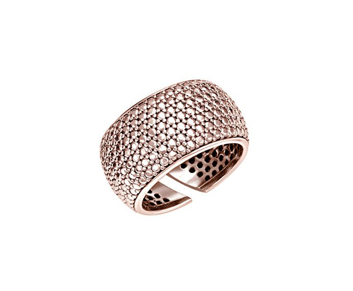 BLISS - Pink rhodium plated silver ring