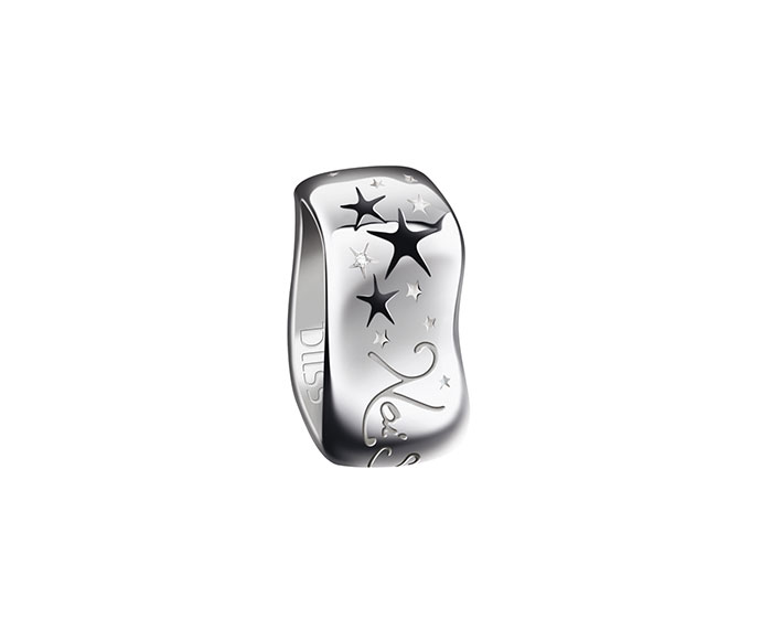 Bliss - Silver ring with black enamel and diamond