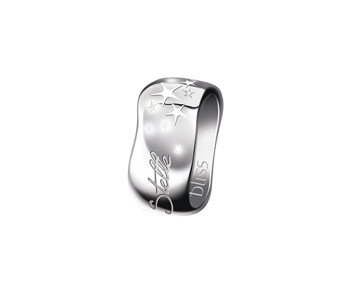 Bliss - Silver ring with white enamel and diamond