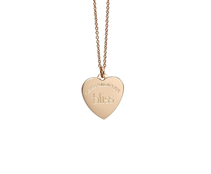 Bliss - Metal gold plated, heart charme necklace