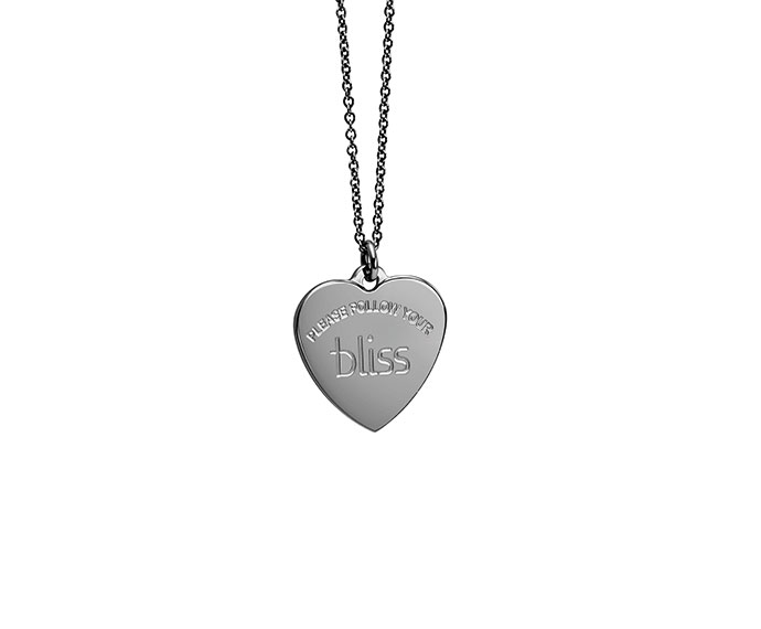 BLISS - Burnished metal, heart charme necklace