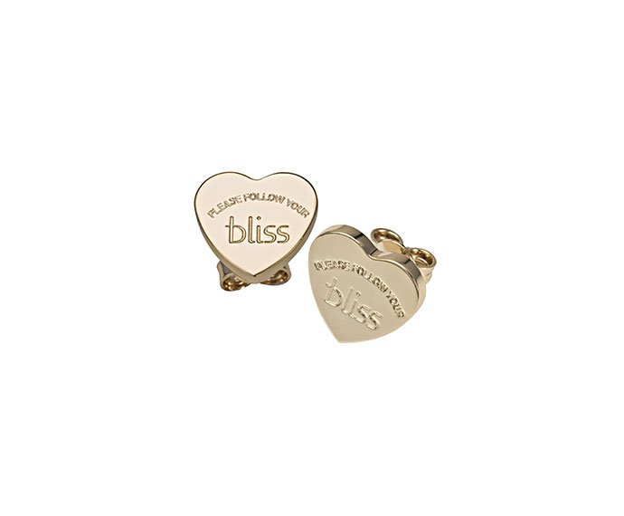 BLISS - Gold plated metal heart shaped earrings