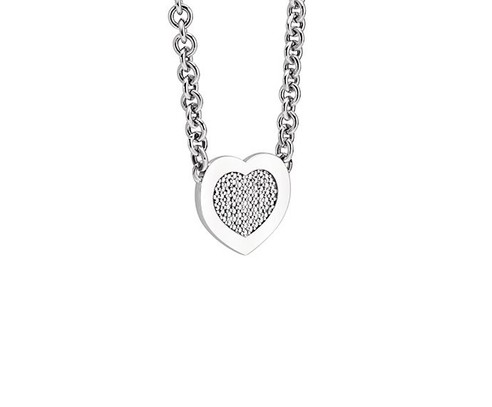 BLISS - Silver heart shaped necklace