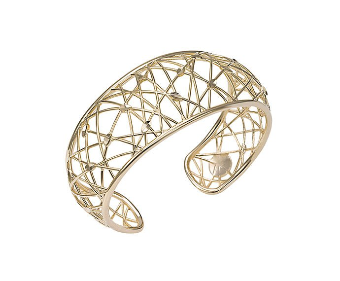 Bliss - Yellow gold plated metal bracelet
