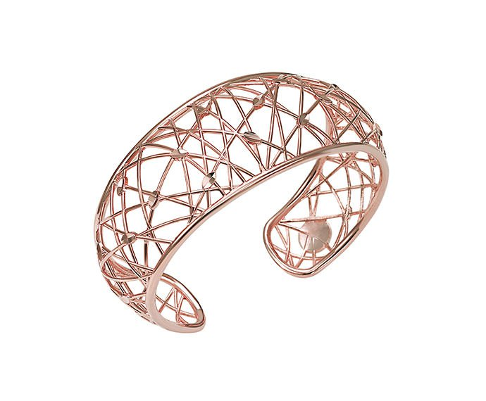 BLISS - Pink gold plated metal bracelet