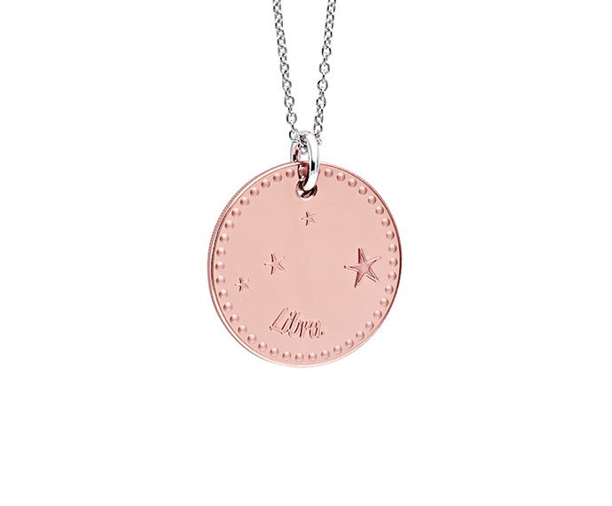 Bliss - Pink gold and white gold plated metal necklace