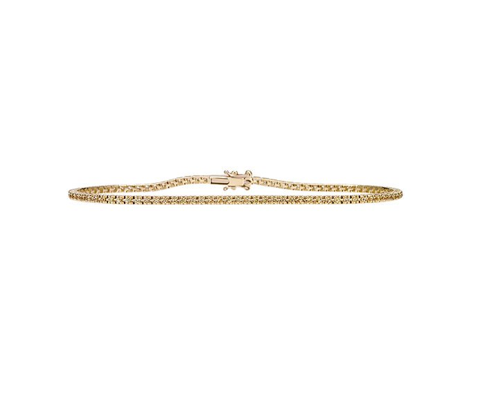 Bliss - Yellow gold and yellow sapphires tennis bracelet