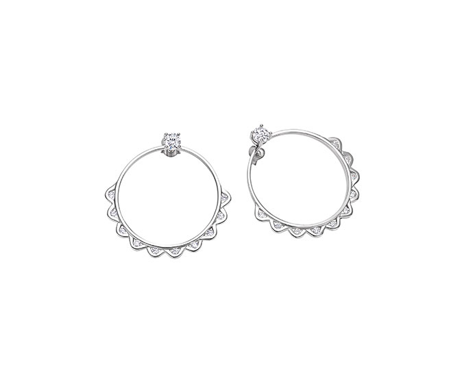 Bliss - Silver and cz earrings