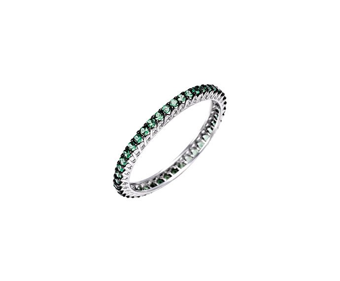 Bliss - White gold and tsavorite solitaire ring