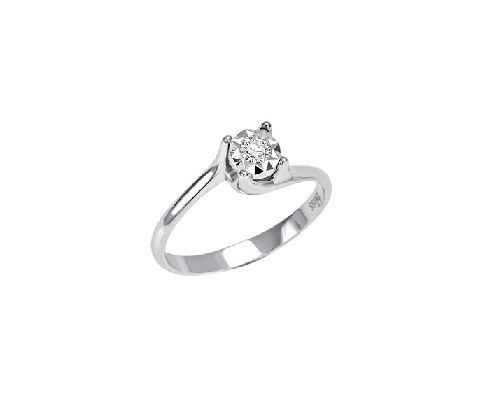 Bliss - White gold and diamond ring