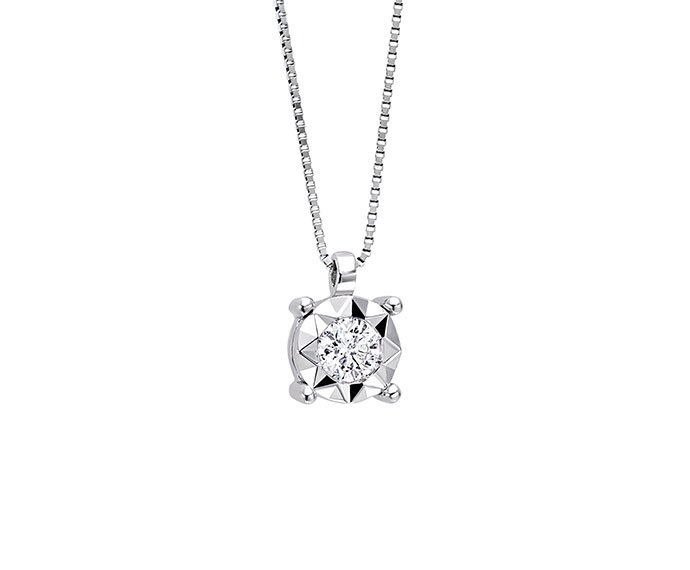 BLISS - White gold and diamond necklace