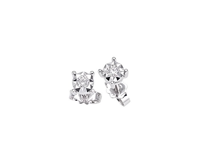 Bliss - White gold and diamonds earrings