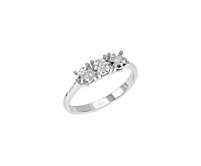 Bliss - White gold and diamonds ring