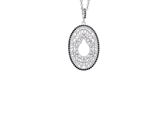 BLISS - Silver and cubic zirconia necklace