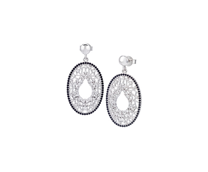 BLISS - Silver and cubic zirconia earrings