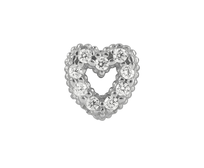 BLISS - Silver Cubic Zirconia Heart Small Pendant