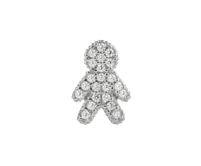 BLISS - Pendente Bimbo in Argento Cubic Zirconia Big