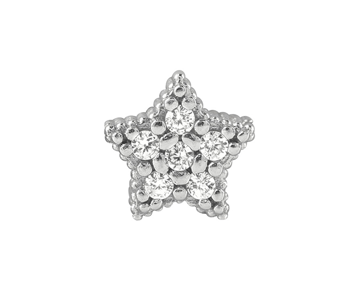 BLISS - Silver and Black Cubic Zirconia Star Charm