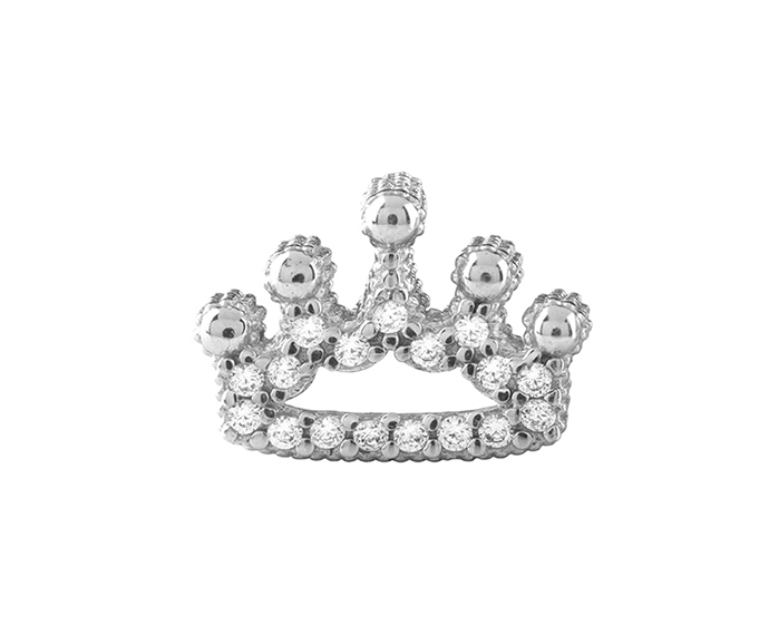 BLISS - Silver and Cubic Zirconia Crown Charm