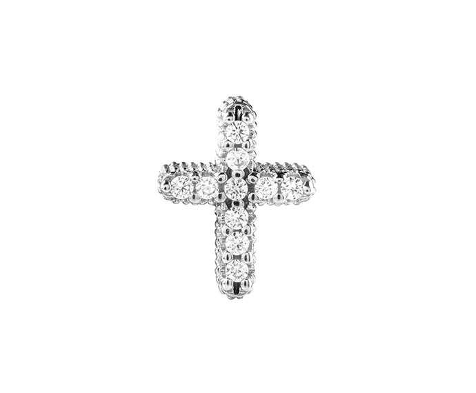 BLISS - Silver and Cubic Zirconia Cross Charm