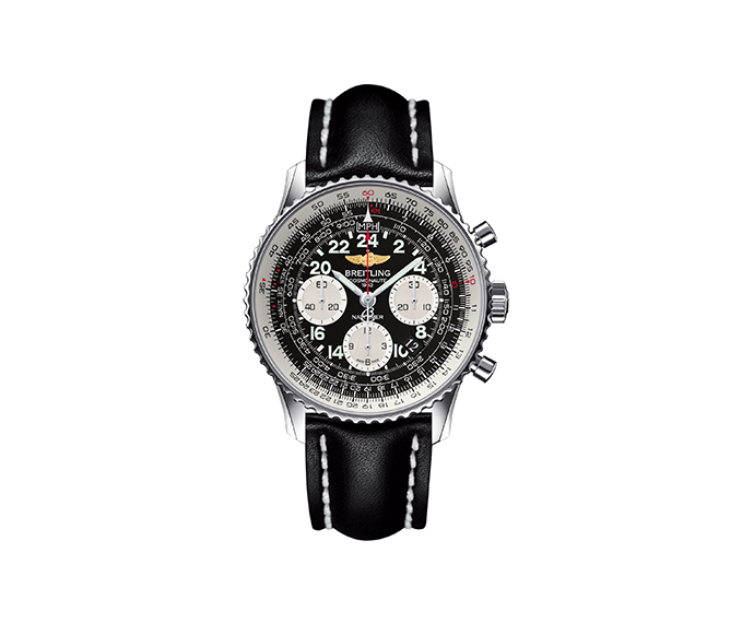 BREITLING - Navitimer Cosmonaute mech steel black leather