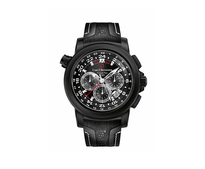 CARL F. BUCHERER - Potravi Travel Tec Black GMT