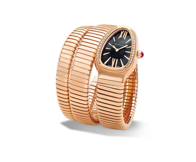 Bulgari - SERPENTI TUBOGAS 35 mm pink gold and diamonds