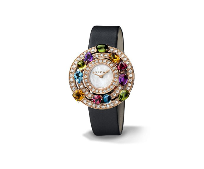 Bulgari - ASTRALE 36 mm pink gold, diamonds and colorful gems
