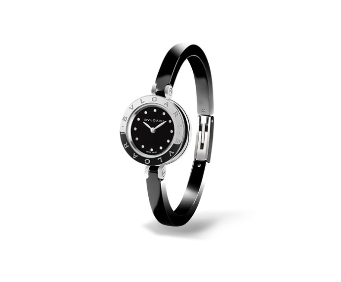 BULGARI - B.ZERO1 23 mm steel and black ceramic