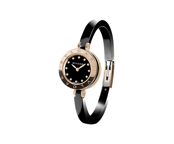 BULGARI - B-ZERO 1 23 mm pink gold and diamonds