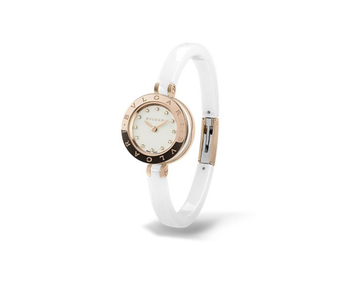 Bulgari - B.ZERO1 23 mm steel, pink gold and white ceramic
