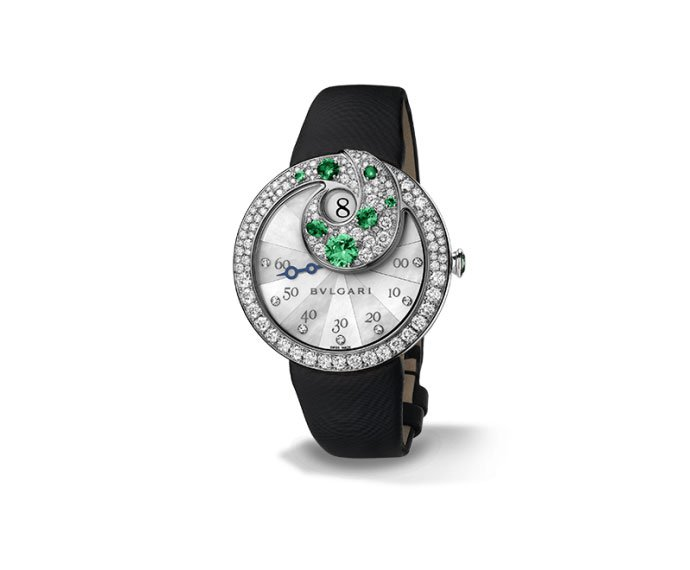 Bulgari - BERRIES 40 mm white gold, diamonds and emeralds