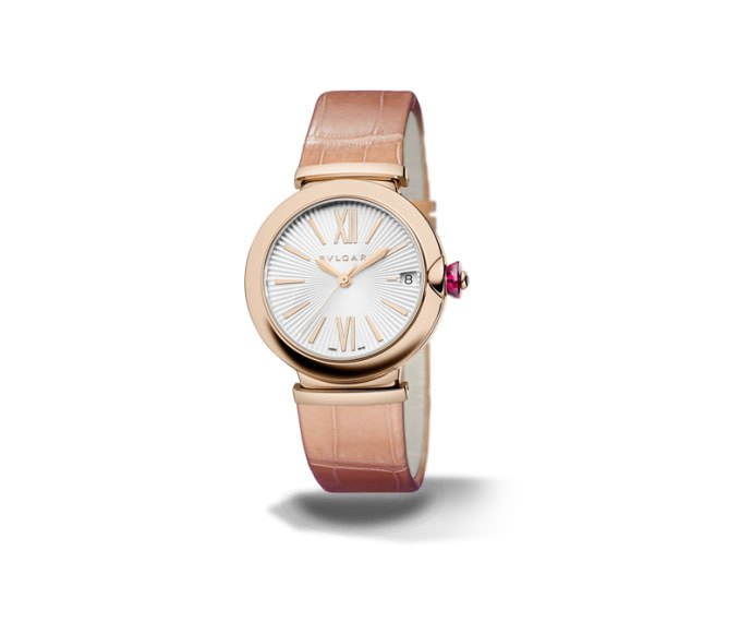 Bulgari - LVCEA 33 mm pink gold and pink bracelet