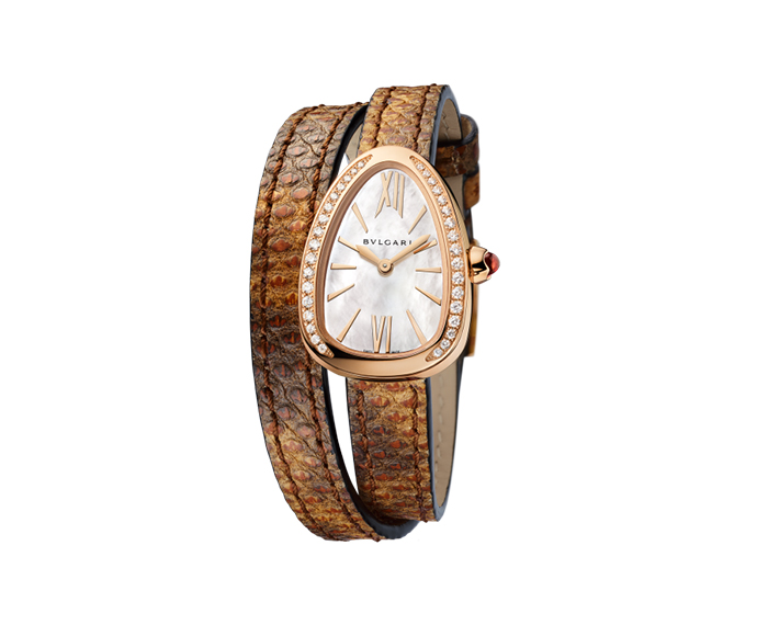 BULGARI - SERPENTI 27 mm pink gold and diamonds