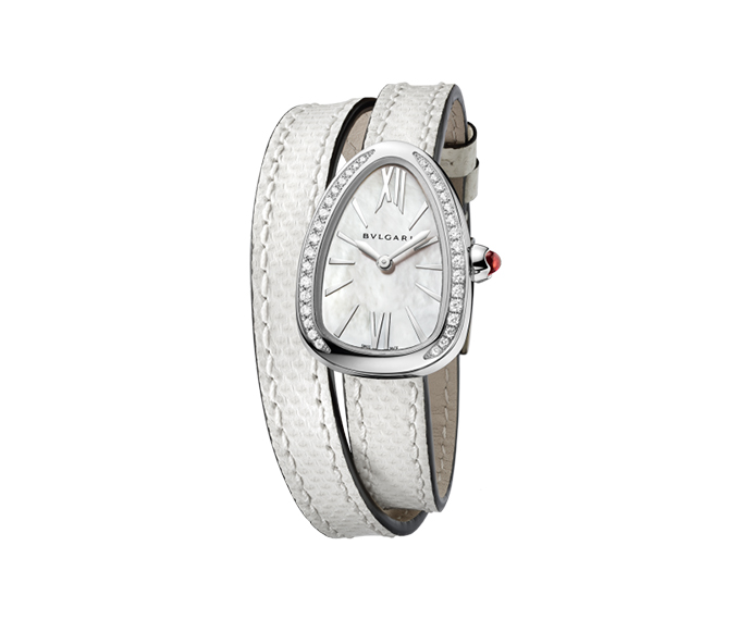 BULGARI - SERPENTI 27 mm acciaio e diamanti