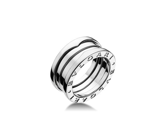 Bulgari - 3 band ring in white gold 18 K
