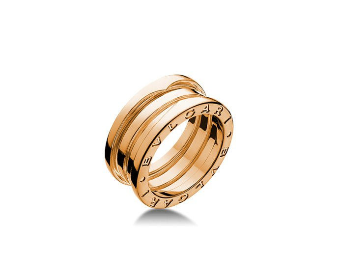 BULGARI - 3 band ring in pink gold 18 K