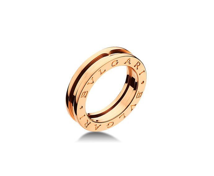 BULGARI - 1 band ring in pink gold 18 K